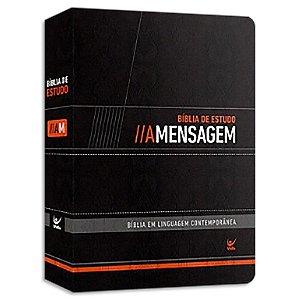 Bíblia de Estudo A Mensagem capa Preta luxo
