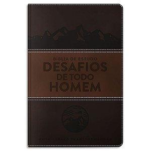 Bíblia de Estudo Desafios de Todo Homem NVT Marrom