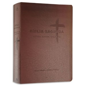 Bíblia NVI Letra Extra Gigante Marrom