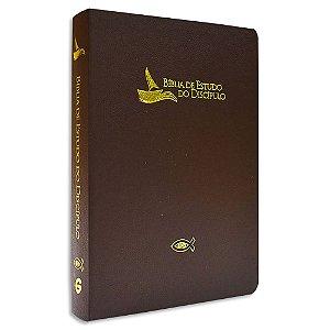 Bíblia de Estudo do Discípulo Revista e Atualizada Marrom