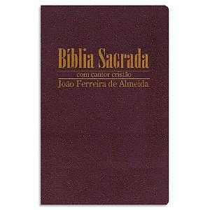 Bíblia com Cantor Cristão RC Média Vinho