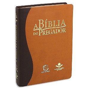 Bíblia do Pregador Almeida Corrigida Bicolor Marrom