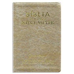 Bíblia de Estudo Joyce Meyer Dourada