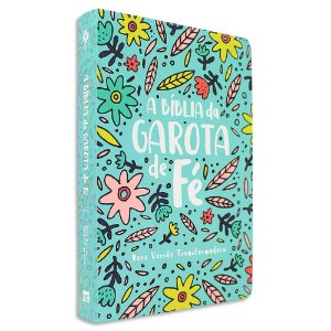 Bíblia da Garota de Fé NVT capa Jardim