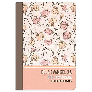 Bíblia Sagrada Ella Evangeliza RC Rosé Floral