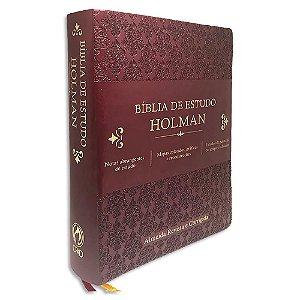 Bíblia de Estudo Holman RC Vinho