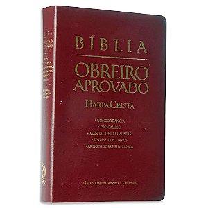 Bíblia Obreiro Aprovado com Harpa Vinho