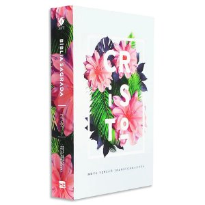 Bíblia NVT Letra Grande Flores Tropicais Cristo