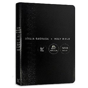 Bíblia Bilingue NVI Português-Inglês Capa Luxo Preta