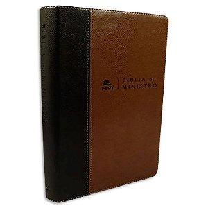 Bíblia do Ministro NVI Marrom Claro e Escuro
