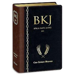 Bíblia King James 1611 com Estudo Holman Preta