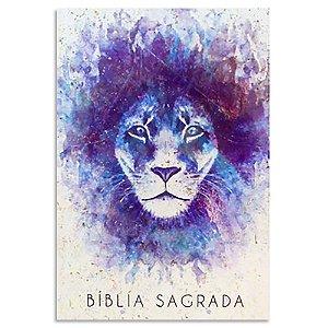 Bíblia King James Atualizada Leão Aquarela