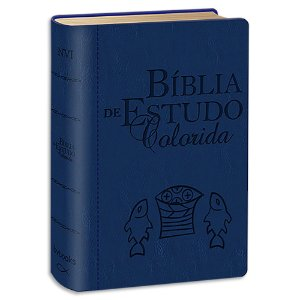 Bíblia de Estudo Colorida NVI Letra Grande Azul