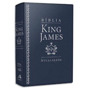 Bíblia King James Atualizada Letra Grande Azul