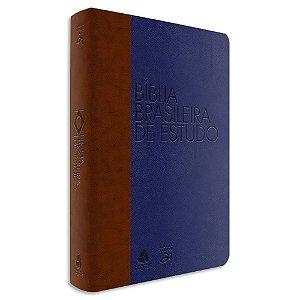 Bíblia Brasileira de Estudo Azul e Marrom