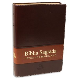 Bíblia Sagrada Letra Supergigante NAA Marrom