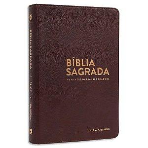 Bíblia NVT Letra Grande Luxo Marrom