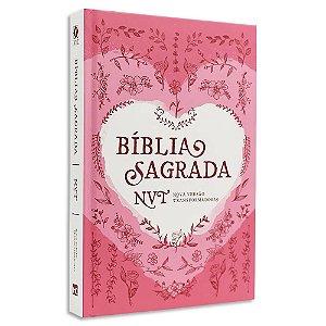 Bíblia NVT Cada Dura Coração Rosa