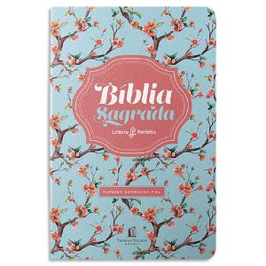 Bíblia ACF Leitura Perfeita Letra Grande Floral