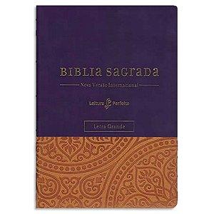 Bíblia NVI Leitura Perfeita Letra Grande Roxa e espaço para anotações