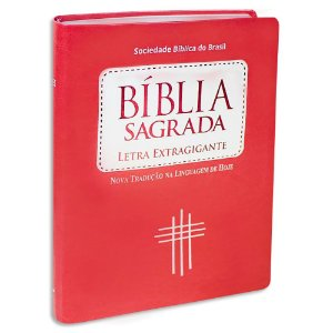 Bíblia Sagrada NTLH Letra ExtraGigante Pêssego
