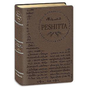 Bíblia Peshitta Média Marrom com Referências