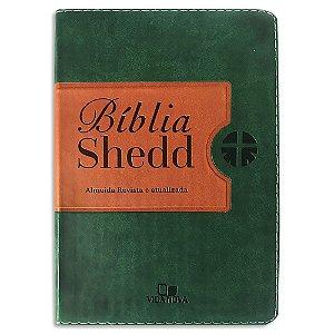 Bíblia Shedd RA Média Verde e Marrom