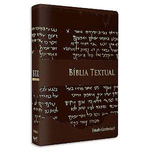 Bíblia Textual Luxo Marrom