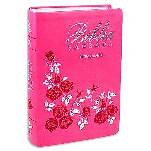Bíblia Nova Almeida Atualizada Letra Gigante Rosa