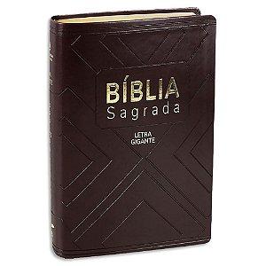 Bíblia Nova Almeida Atualizada Letra Gigante Marrom