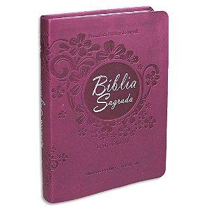 Bíblia Feminina Letra Grande Revista e Atualizada Vinho