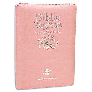Bíblia Feminina Letra Gigante Rosa Claro