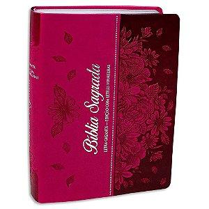 Bíblia Sagrada Letra Gigante RC Pink