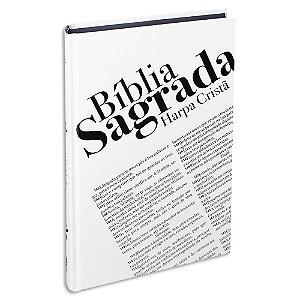Bíblia com Harpa capa dura Branca