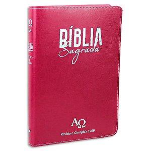 Bíblia Almeida Revista e Corrigida 1969 Letra Grande Rosa