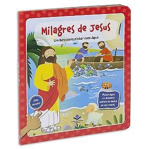 Milagres de Jesus: Um livro para pintar com água