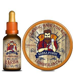 Combo Lumberjack Óleo e Hair Pomade Barba Forte (2 Produtos)