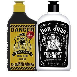 Shampoo Bomba Danger e Progressiva Don Juan (2 Produtos)