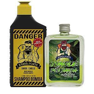 Shampoo Bomba Danger e Loção pós Barba Jungle (2 Produtos)