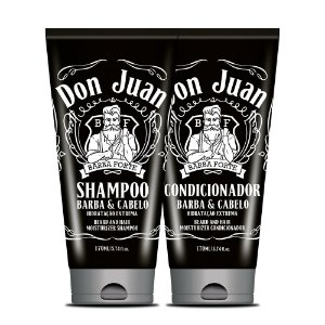 Kit Shampoo e Condicionador para Barba e Cabelos Don Juan Barba Forte 2x170ml