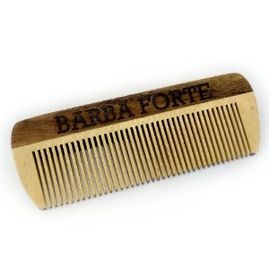 Pente em Madeira Artesanal Barba Forte PT001