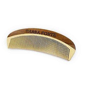 Pente em Madeira Artesanal Barba Forte PT002