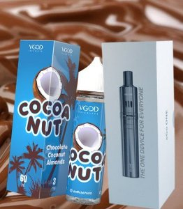 Kit Ego One + 1 Líquido vgod trick lyfe Cocoa Nut