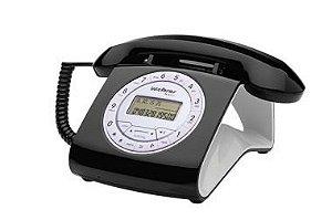 Aparelho Telefone Fixo Tc 8312 Preto Flash Retro