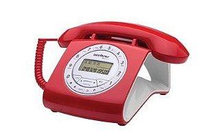 Aparelho Telefone Fixo Tc 8312 Vermelho Flash Retro