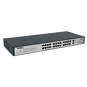 Switch 24p 10/100 + 2p Gb Intelbras Sg 2620 Qr