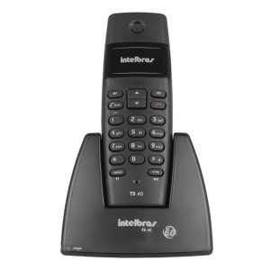 Telefone Intelbras 1,9ghz S/ Fio Sem Fio Ts40 Pt Preto