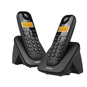 Telefone + Ramal Intelbras Ts3112 S/fio Id Preto
