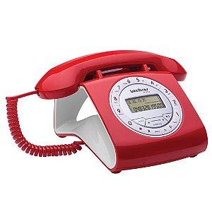 Aparelho Telefone Fixo Tc 8312 Flash Retro Vermelho