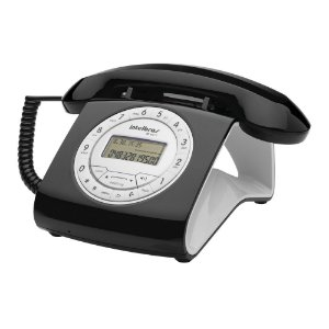 Aparelho Telefone Fixo Tc 8312 Flash Retro Preto
